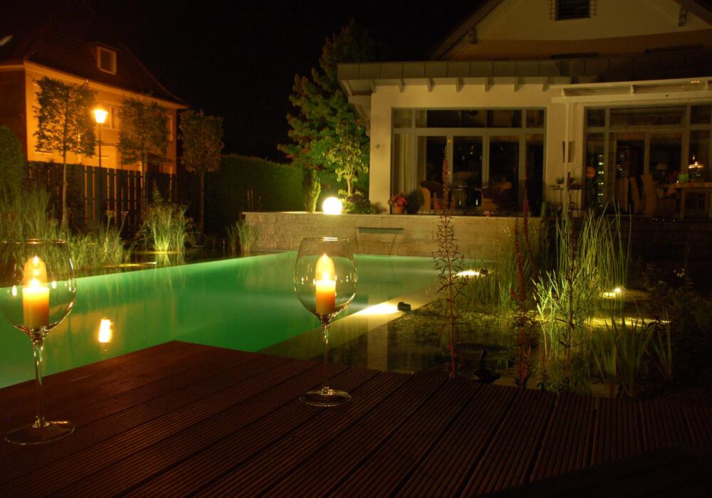 kreative Gartenbeleuchtung