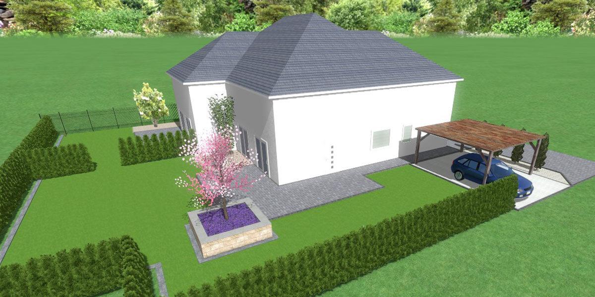 3D-Zeichnung von Garten
